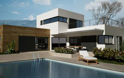 Maison à toiture plate Provence maisons