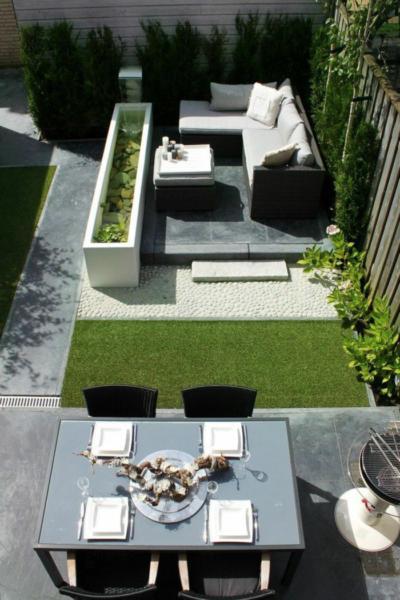 Terrasse avec bassin design Pinterest