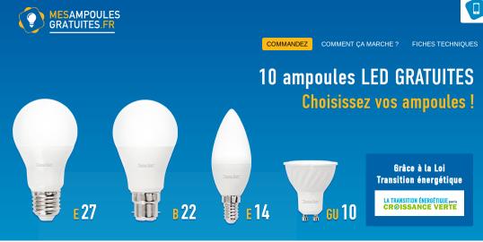 Ampoules LED gratuite mesampoulesgratuites.fr