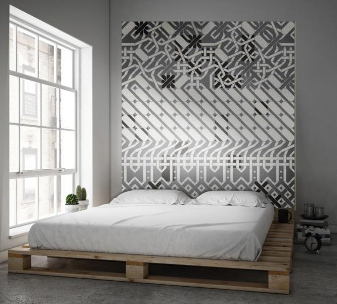 Tête de lit en carreaux de ciment Carocim