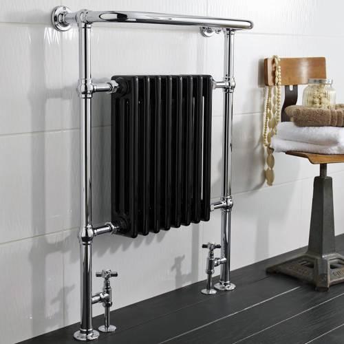 Hudson Reed Sèche-serviettes radiateur noir laqué Marquis - Prix de vente 394 €