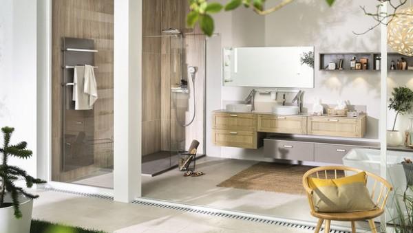 Salle de bains ambiance végétale Mobalpa