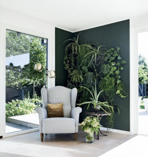 Inspiration déco mur vert Liliinwonderland