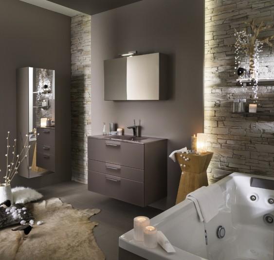 Meuble de salle de bains Unique Delpha
