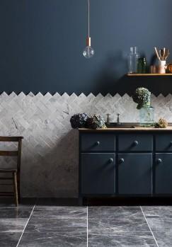 Carreaux en marbre gris Mandarin Stone