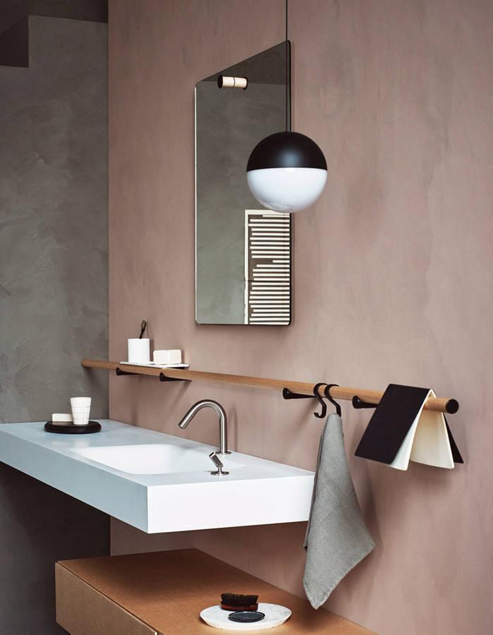 mur de salle de bains peint la chaux agape