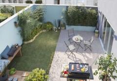 Idée aménagement petit jardin, dalles Leroy Merlin
