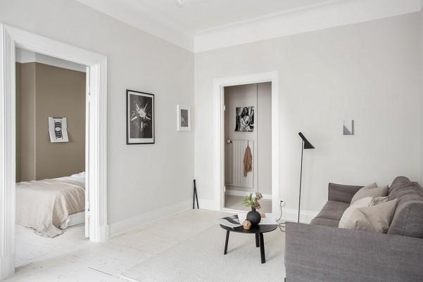 Peinture d'intérieur : privilégier les couleurs claires Salon gris clair Alvhem