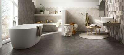 Carrelage de salle de bains faience contemporaine