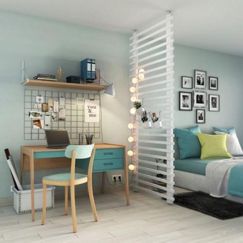 Délimiter les espaces dans la chambre : Cloison amovible Leroy Merlin