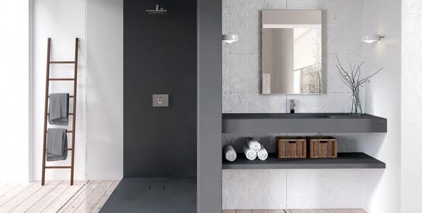 Douche avec receveur Zeus et panneaux en composite Mc bath
