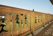 Garde corps balcon bois massif Domozoom
