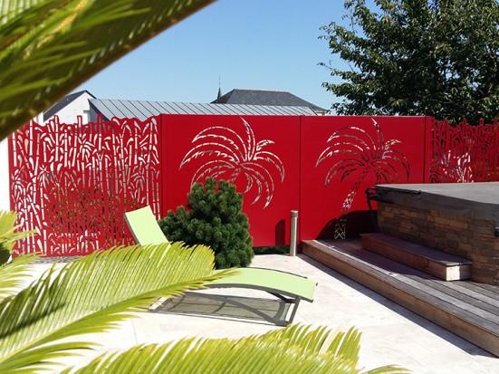 Clôture panneaux décoratif bambou et palmier Ambellya