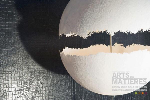 Enduit effet peau de croco © Arts et Matières