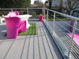 Garde-corps terrasse inox lyon metal