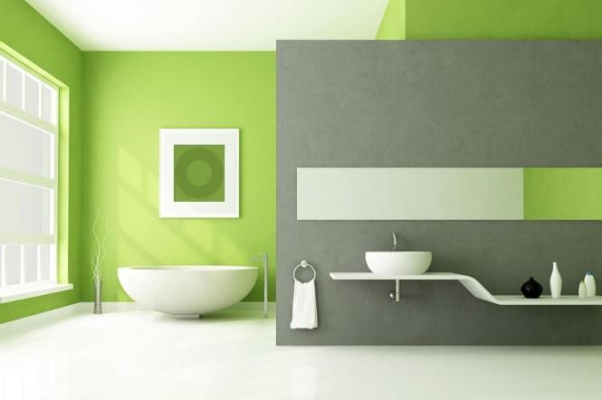 "Décoration de Salle de bains en ""Greenery"" © Luxury Bathroom"