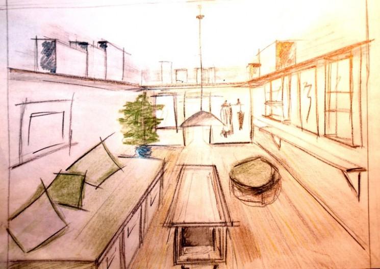 Aménager un petit logement - Rangements en hauteur © Décoerrance