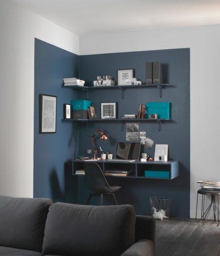 Attrayant Peintures Bleu Et Gris Pour Délimiter Un Espace De Travail @Deco Cool