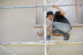 Réparation façade en crépi