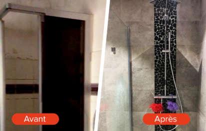 Avant-après: Rénovation d'une salle de bains vétuste