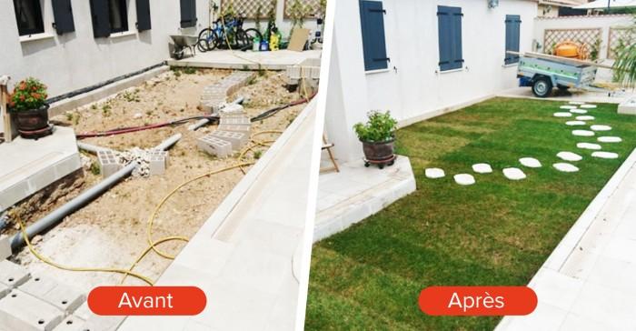 Avant-après : Aménagement extérieur d\'un jardin à l\'abandon ...